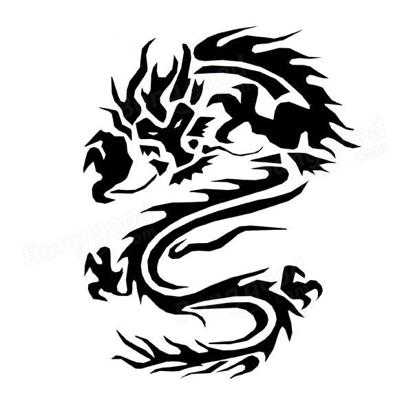 600x600 180cm X 35cm Chinese Dragon Totem Car Styling Whole Body Pvc