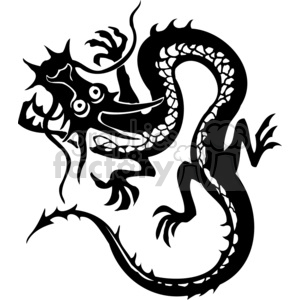 300x300 Royalty Free Chinese Dragon Tattoo Design 383897 Vector Clip Art