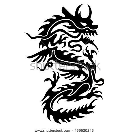 450x470 Most Beautiful Chinese Dragon Tattoos Designs