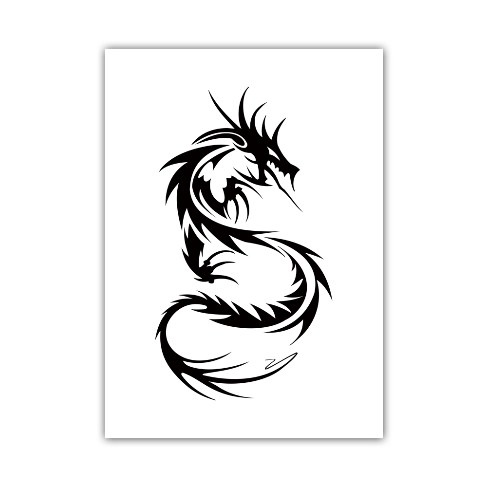 1000x1000 Simple Style Canvas Print Painting Poster Of Chinese Dragon