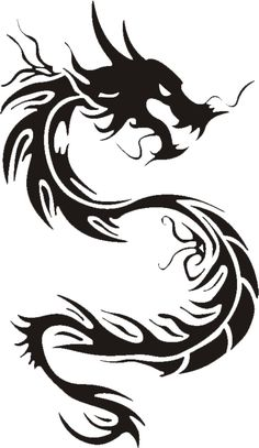236x407 Tribal Clipart Chinese Dragon