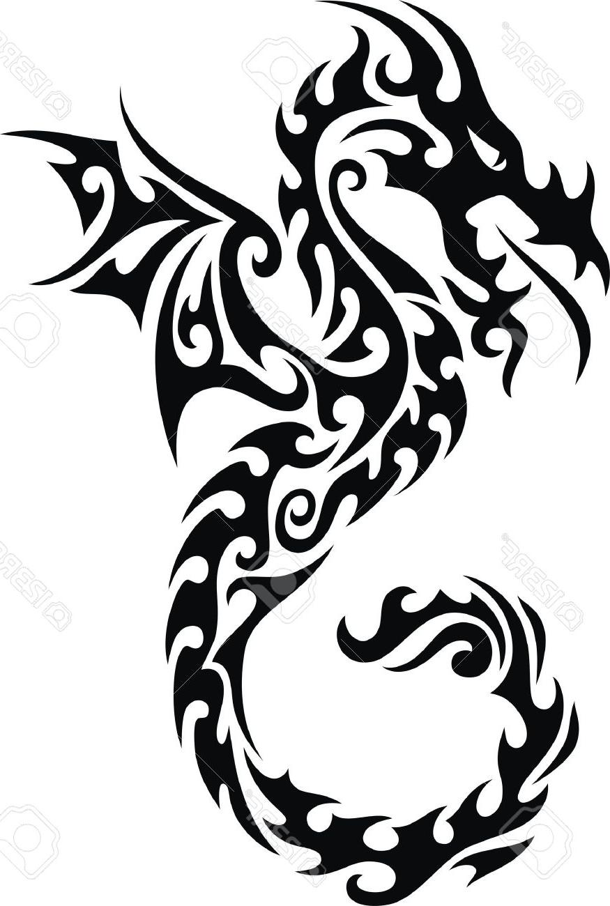 Chinese dragon images black and white free download best chinese 875x1300 best hd the stylized dragon in form of tattoo stock vector chinese biocorpaavc