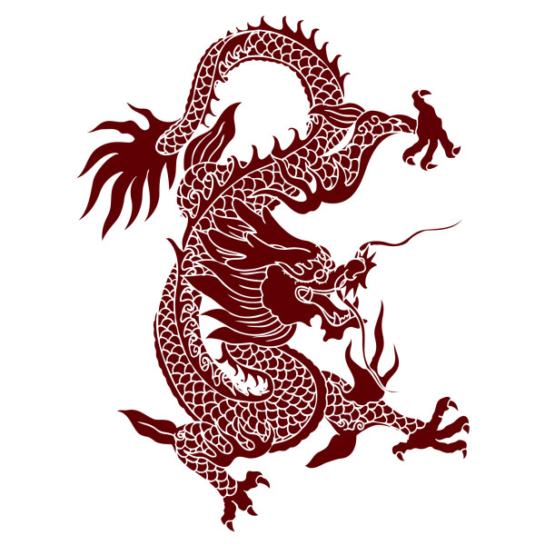 600x600 Chinese Dragon Creative Vector Material Epin Free Graphic
