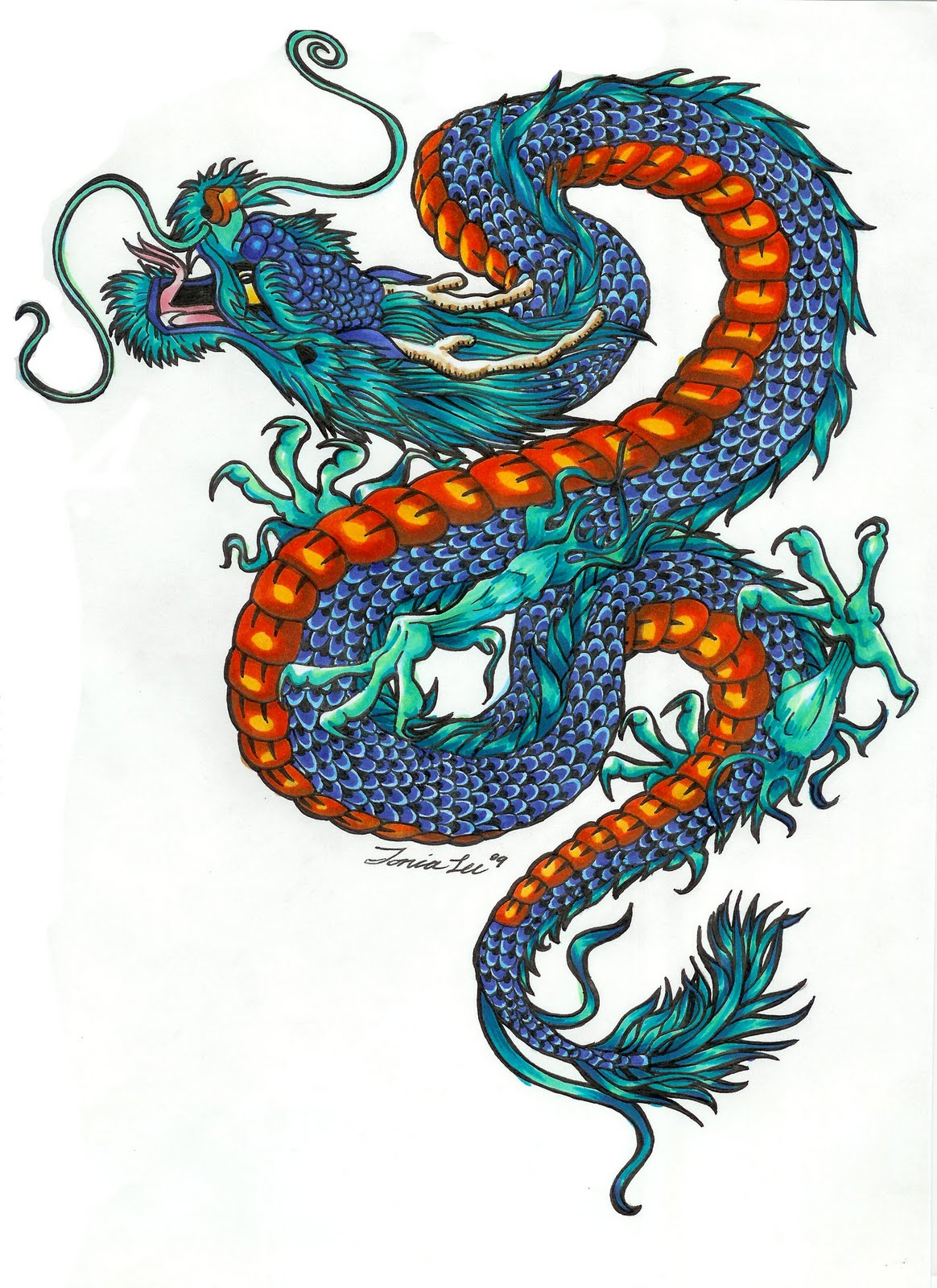1164x1600 Color Dragon Tattoo Designs With Pictures Dragons, Googly Eyes