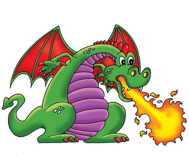 379x316 Free Fire Breathing Dragon Clipart