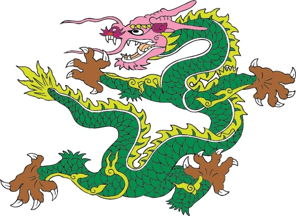 600x438 Vector Ancient Chinese Dragon Vector Free Vector In Adobe