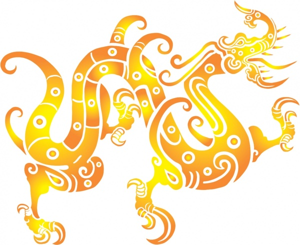 600x490 Vector Chinese Dragon Vector Free Vector In Adobe Illustrator Ai