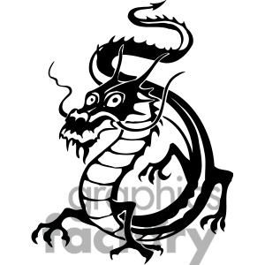 300x300 Chinese Dragon Clipart Black And White