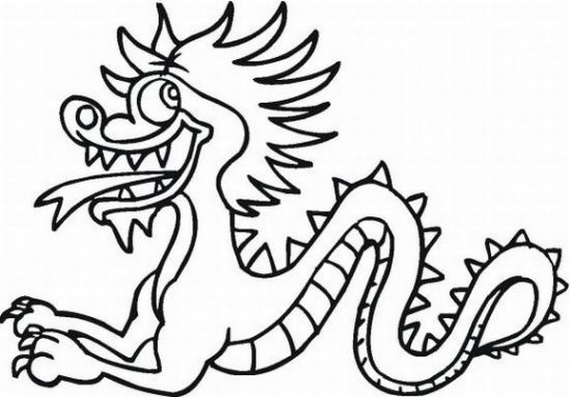 570x397 Chinese Dragon Coloring Pages