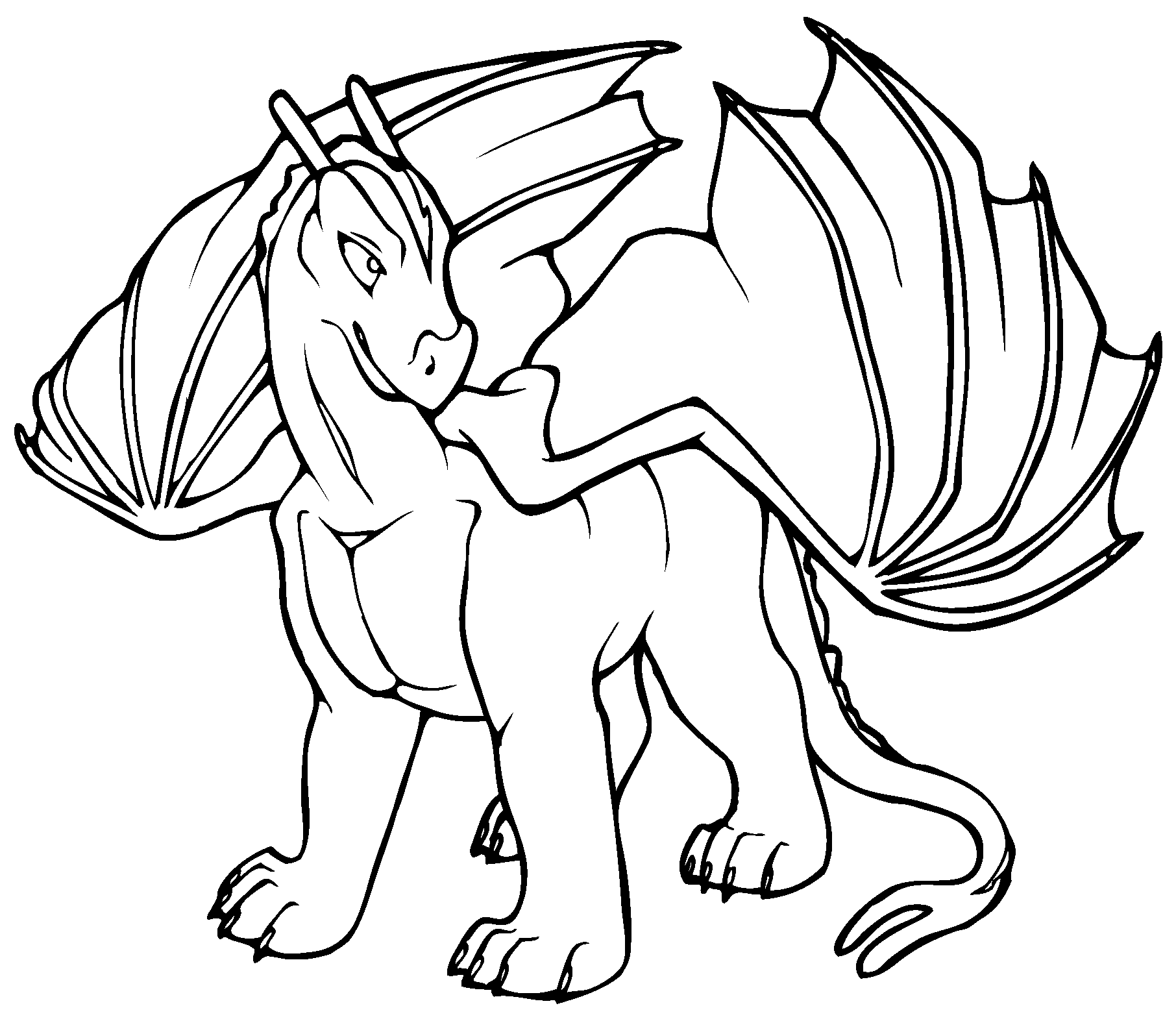 1812x1573 Cute Dragon Coloring Pages