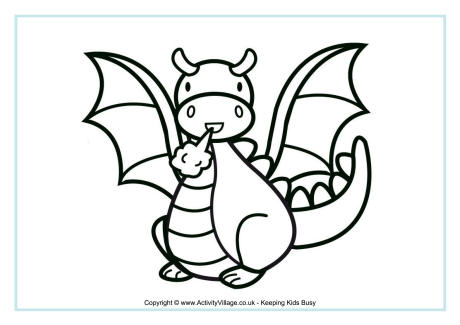 460x325 Dragon Colouring Pages
