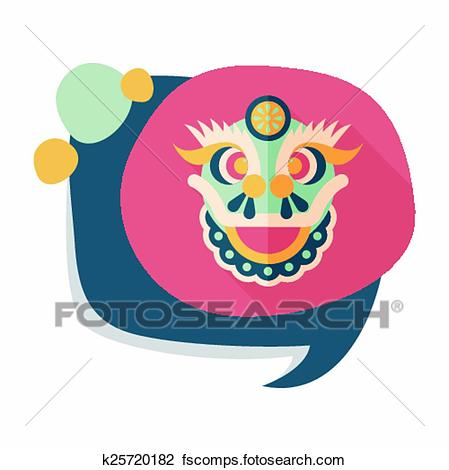 449x470 Clipart Of Chinese New Year Flat Icon With Long Shadow,eps10,the