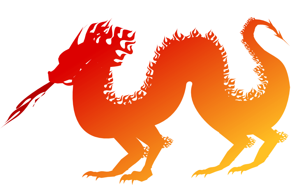 999x636 Chinese New Year Dragon Clip Art Orange.png
