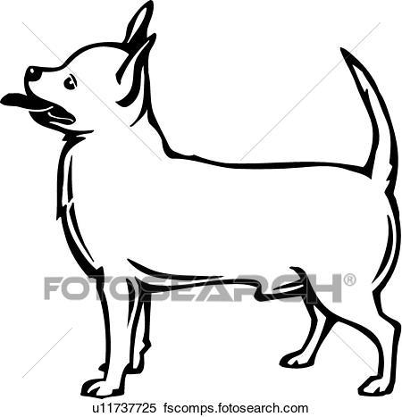 450x467 Clipart Of Chihuahua U11737725