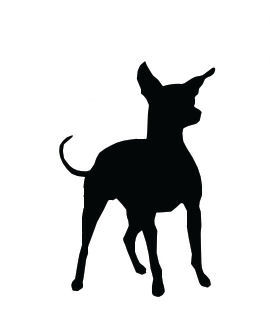 270x330 Silhouette Chihuahua Dog Standing