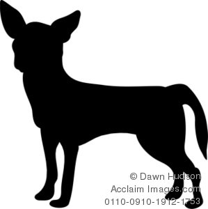 299x300 Of A Chihuahua Dog Clipart Illustration