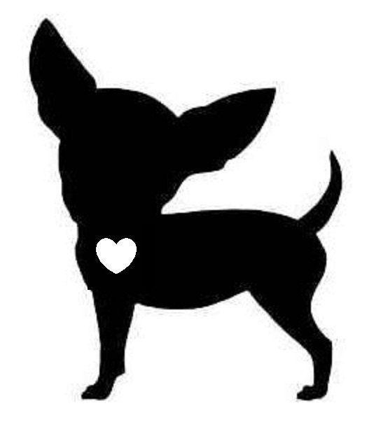 554x620 Black Clipart Chihuahua