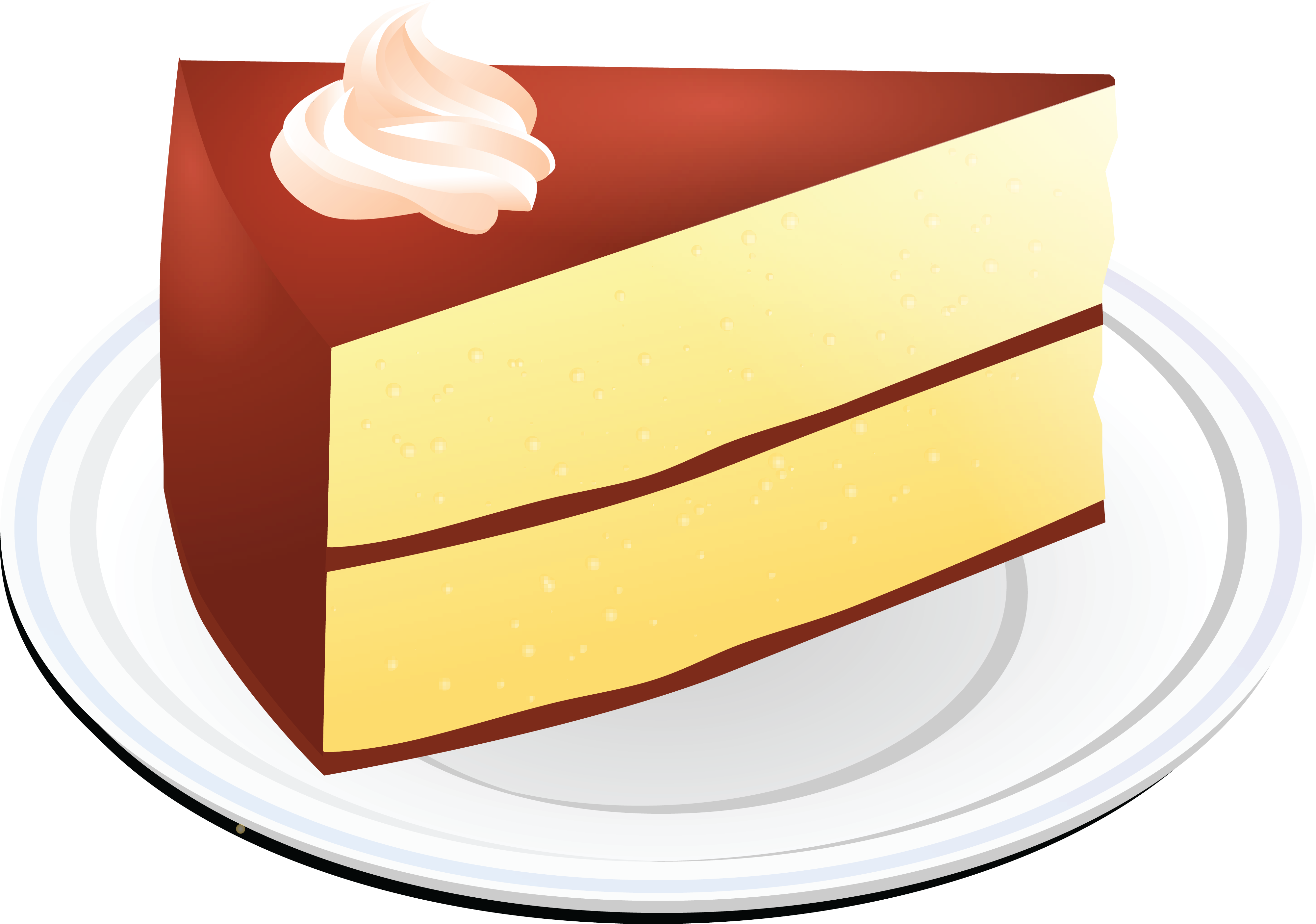 4000x2808 Free Clipart Of A Layered Vanilla Cake With Chocolate Frosting