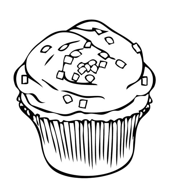 Chocolate Chip Cookie Coloring Page | Free download on ...