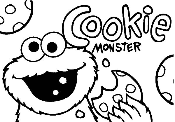 Chocolate Chip Cookie Coloring Page   Free download on ...