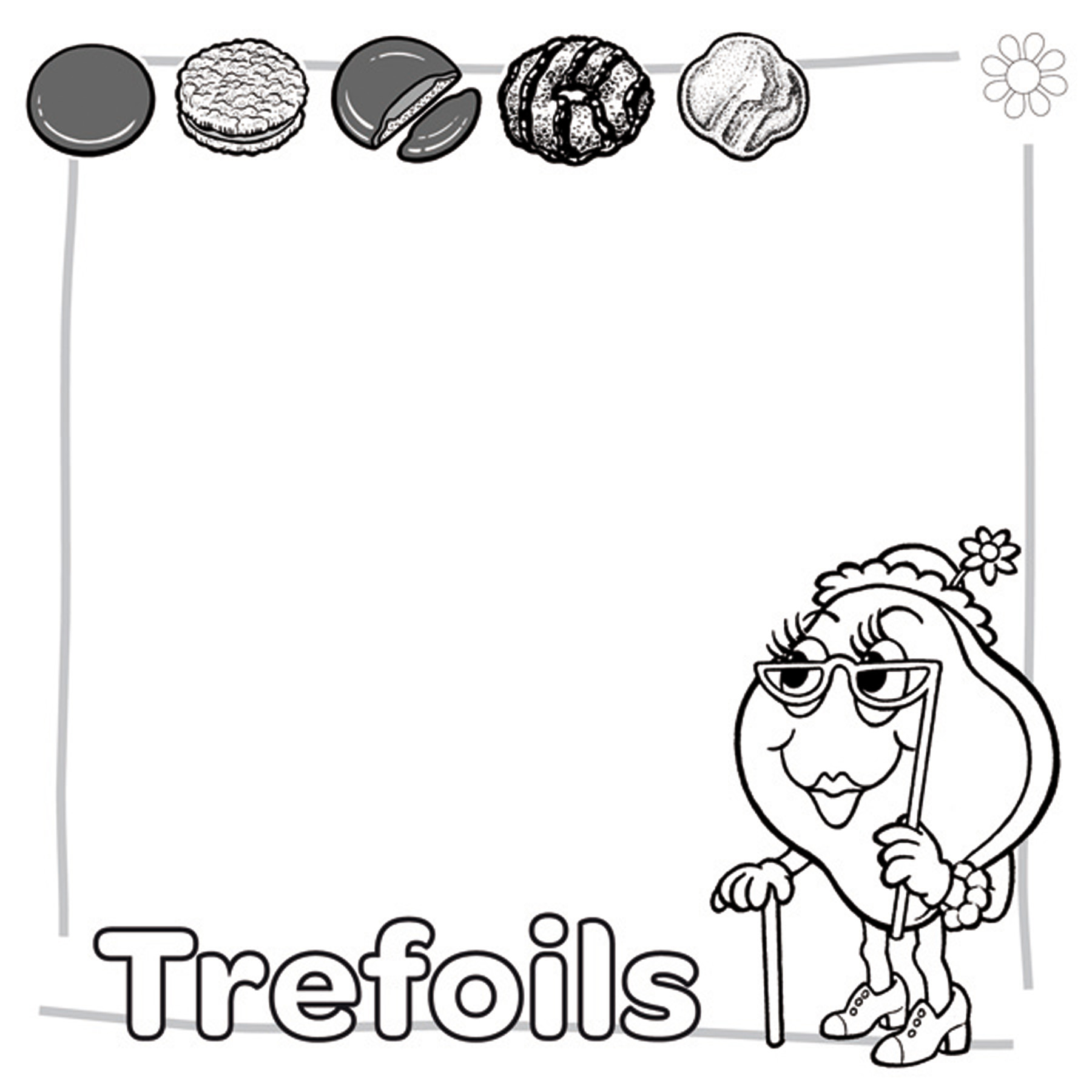 chocolate brownie coloring pages - photo#31