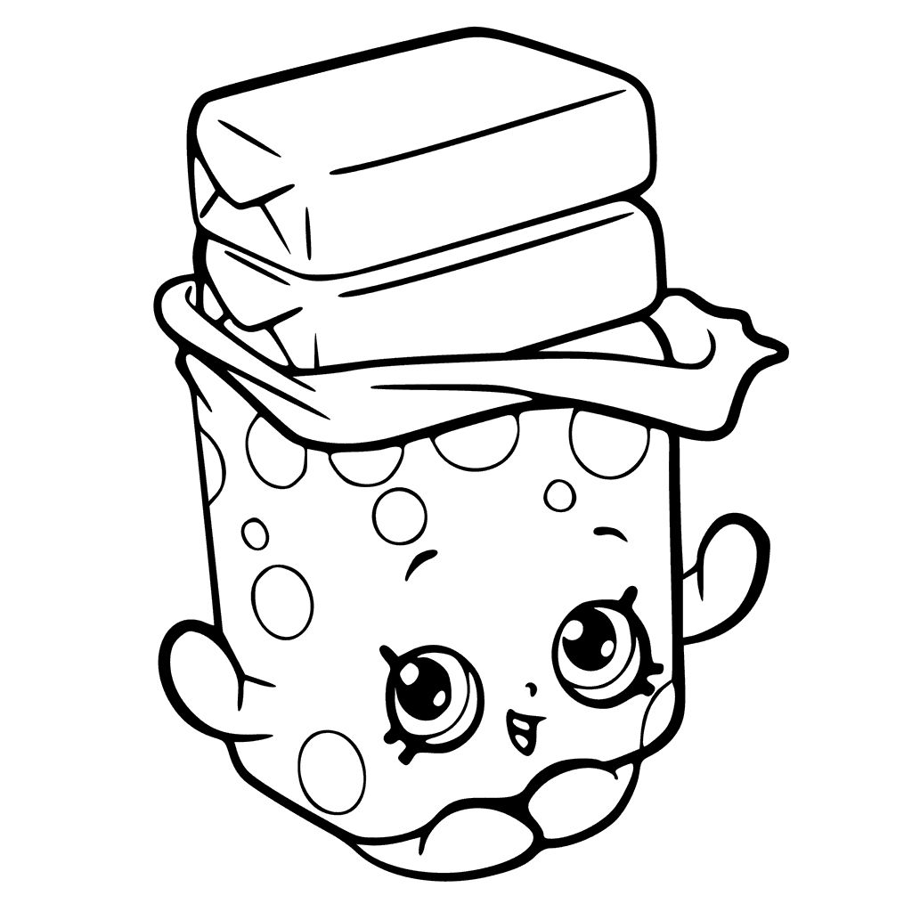 Chocolate Chip Cookie Coloring Pages | Free download on ...