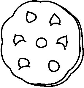cookie coloring pages. 283x296 Chip Cookie Coloring Pages Chocolate  Free download best