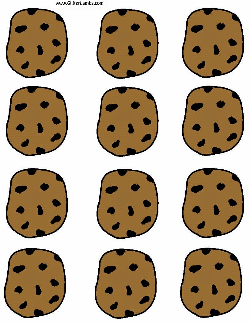 Chocolate Chip Cookies Coloring Pages | Free download best Chocolate ...