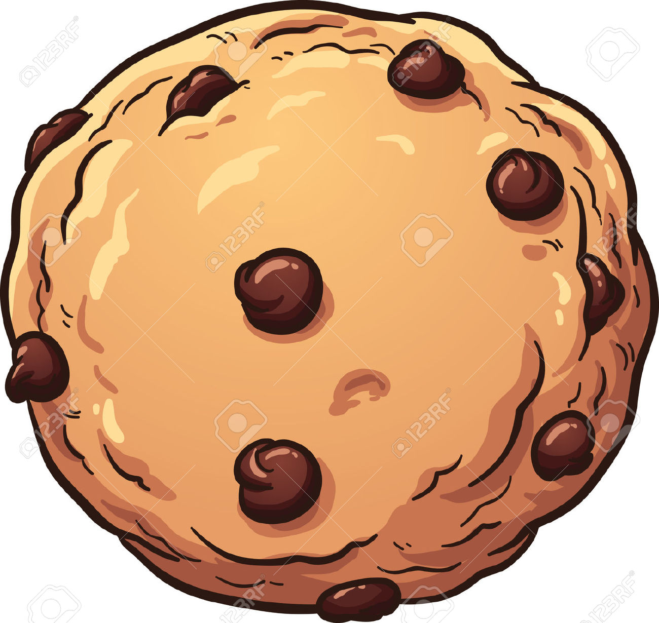 1300x1230 Chocolate Chip Cookies Clipart