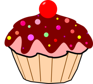 299x270 Chocolate Cupcake Clip Art