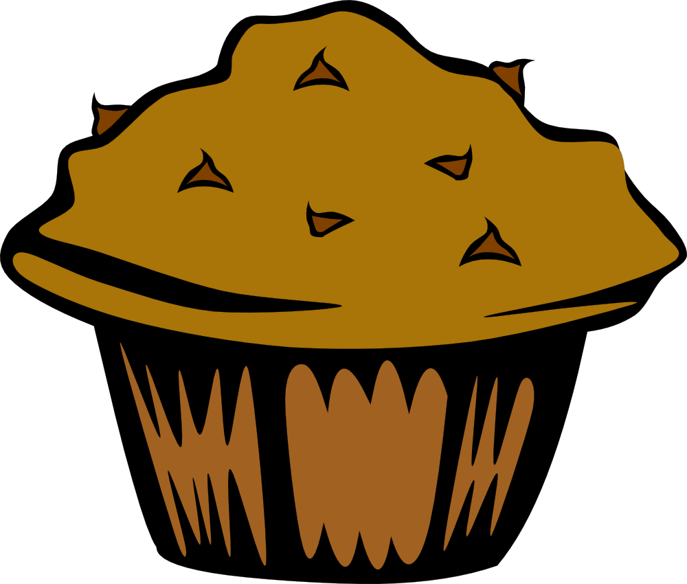 1000x850 Five Clipart Chocolate Chip Muffin