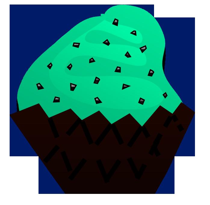 698x682 Mint Chocolate Chip Cupcake Clip Art Cupcake Clipart