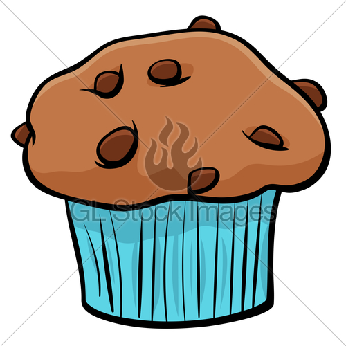 500x500 Muffin With Chocolate Cartoon Object Gl Stock Images