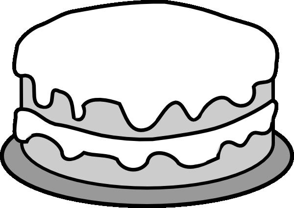 600x425 Chocolate Cake Clipart Black And White