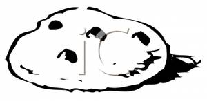 300x147 Chocolate Chip Cookie Clipart Black And White Clipart Panda