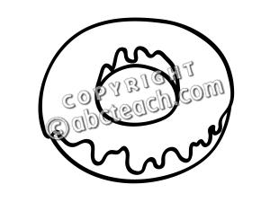 300x225 Donut Clip Art Black And White Clipart Panda