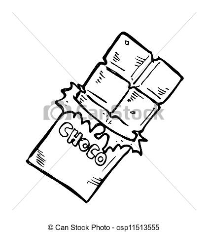 Chocolate Clipart Black And White