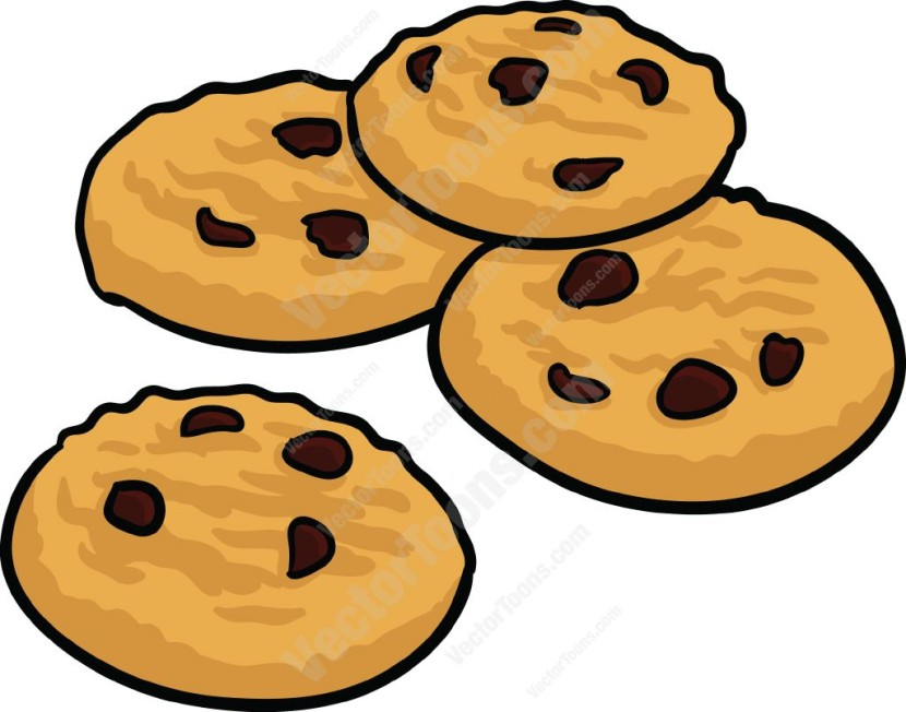 830x652 Chocolate Chip Cookies Clipart