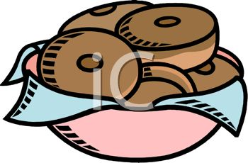 350x230 Picture Of A Bowl Of Chocolate Donuts In A Vector Clip Art