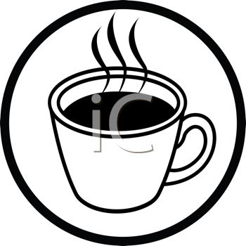 350x350 Picture Of A Hot Cup Of Cofffee In A Vector Clip Art Illustration