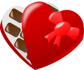 298x246 Heart Shaped Box Of Chocolates Clip Art