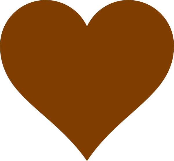 600x556 Chocolate Heart Clip Art