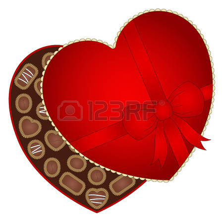 450x446 Box Of Chocolates Clipart