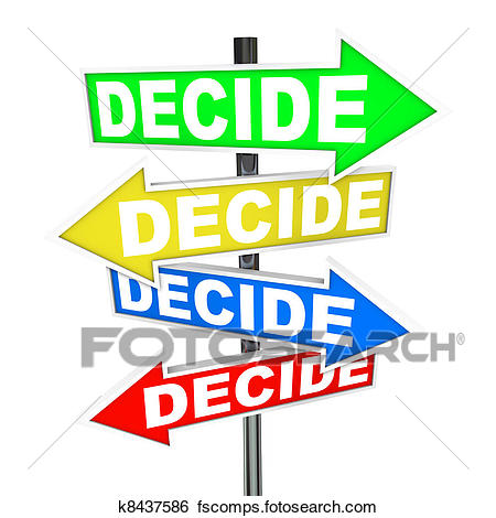 450x470 Clip Art Of Confused By Too Many Choices Arrow Street Signs
