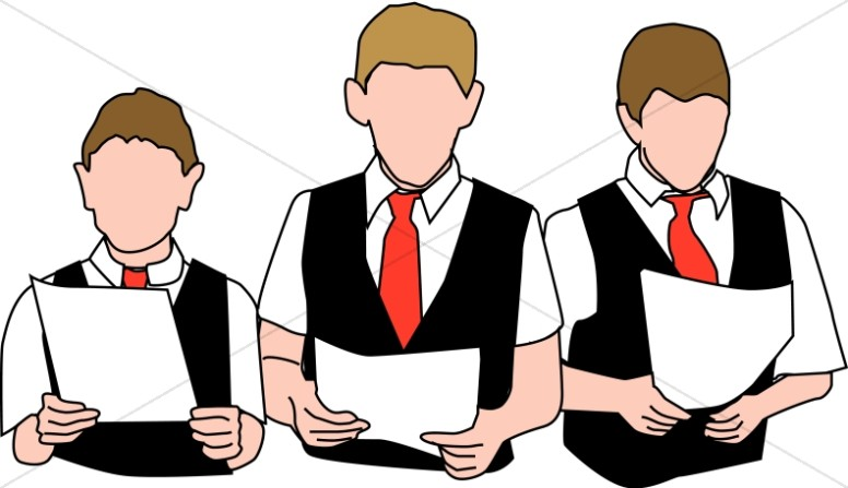 776x447 Three Choir Boys With Vests Youth Choir Clipart