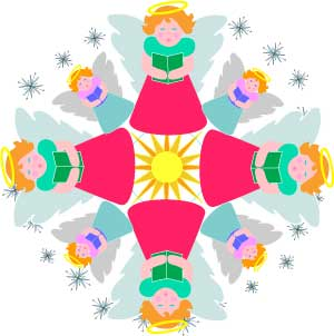300x302 Christmas Pictures Clip Art Angels Choir Christmas Pictures