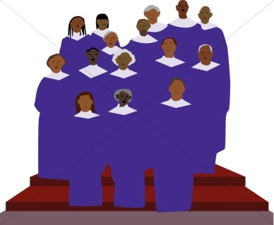 388x319 Choir Singers Clipart
