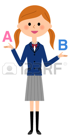 229x450 School Girls To Choose Royalty Free Cliparts, Vectors, And Stock