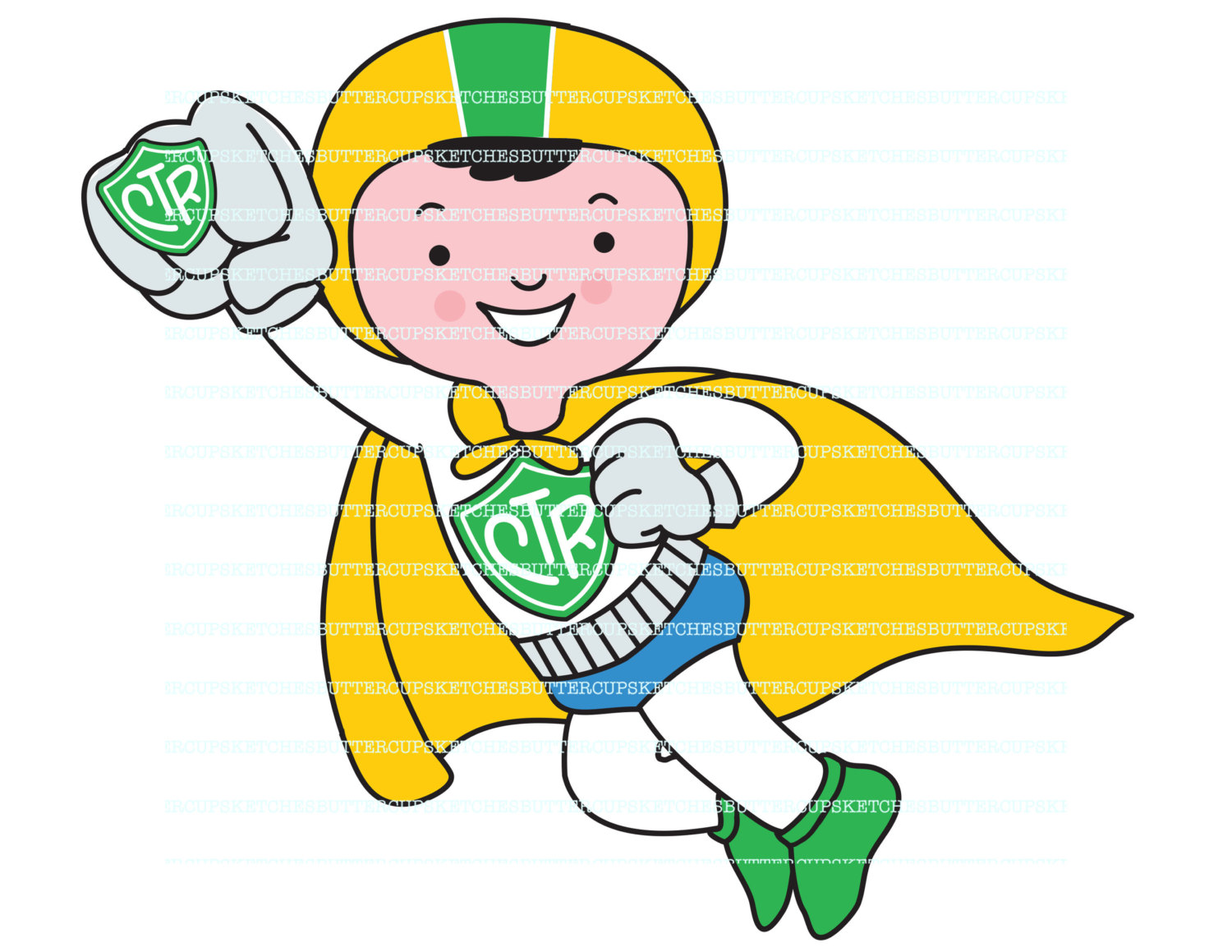 1500x1159 Lds Primary Ctr Superhero Theme From Buttercupsketches On Etsy Studio