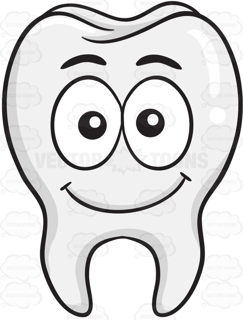 777x1024 Smiling Tooth Clipart